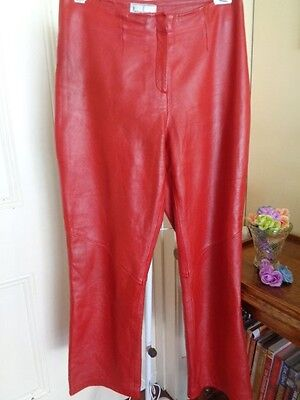 Retro Red Leather Pants By Anthea Crawford