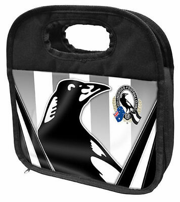 Collingwood Magpies AFL Cooler Lunch Bag with zip 25 by 18cms!
