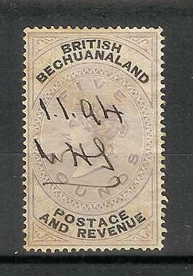British   Bechuanaland   Victoria   1887   Five     Pounds   £5