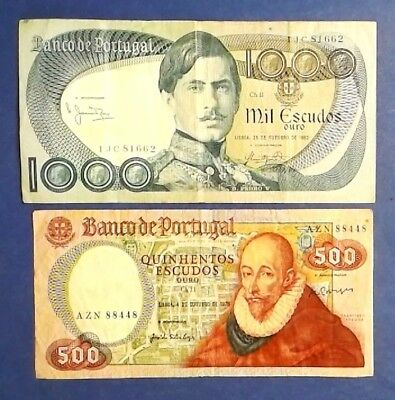 PORTUGAL: Set of 2 Banknotes Fine Condition