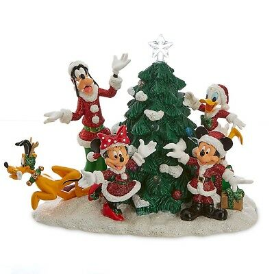 Disney Store Santa Mickey Mouse and Friends Light-Up Tree Figure Centerpiece