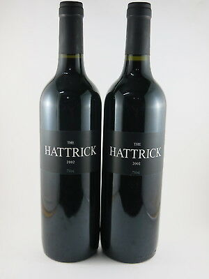 2 x Australian Domaine Wines - The Hattrick McLaren Vale 2002 Red Blend Stunning