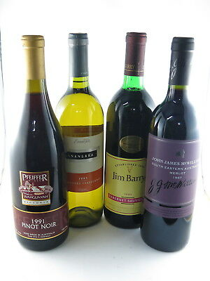 Jim Barry 1990 Cab, Mcwilliams Red 1997, Pfeiffer Pinot 1991, Evans Tate Chard03