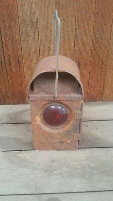 Vintage Industrial Railway Transportation Lantern Light Bar Man Shed