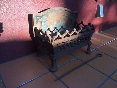 1920's Cast Iron Fire Grate