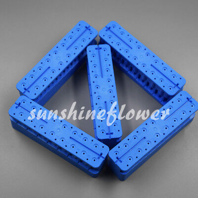 5 Pcs Dental Endo Measuring Block Endodontic File Holder Ruler Autoclavable