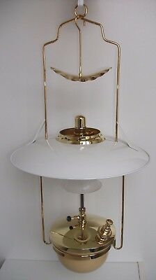 Early Tilley / Tilly Hanging Harp Lamp - Model KL80 with Vitreosil globe
