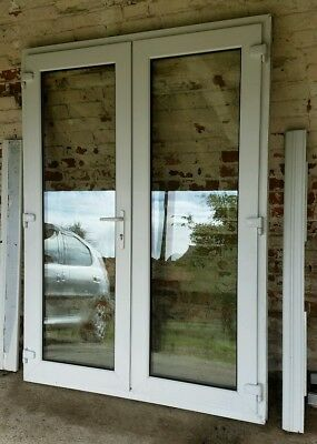 White upvc double glazed patio doors picclick uk for Double glazed upvc patio doors