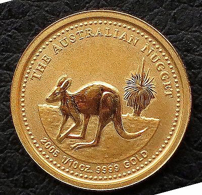 2005 Australian 15 Dollars Nugget Proof Gold Coin - 1/10 OZ  .9999 Gold KM#: 911