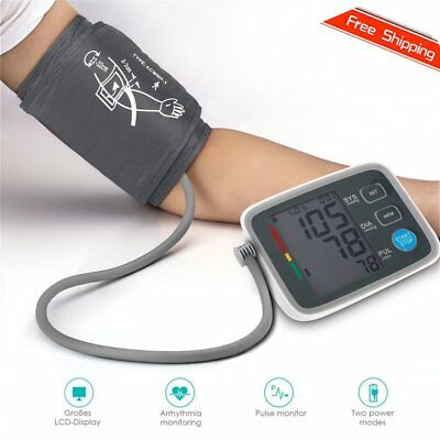 Fully Automatic Digital Upper Arm Blood Pressure Monitor Pulse Rate Testing PM