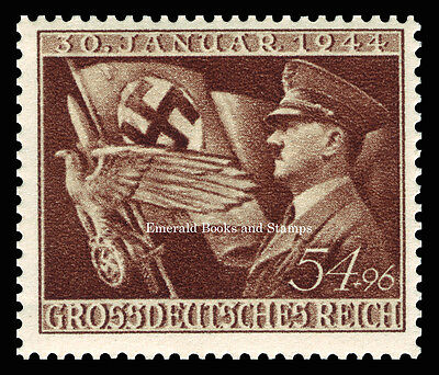 EBS Germany 1943 11th Anniversary of Hitler coming to Power Michel 865 MNH**