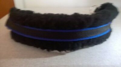Bitless attachment for your bridle cob/full cushion webbing black blue