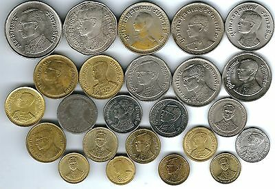 23 different world coins from THAILAND some scarce