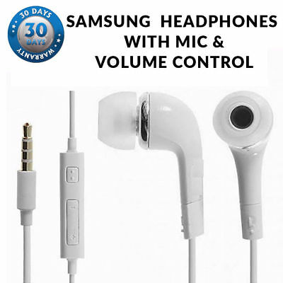 Generic Headphones Earphones Earbud with Mic & Volume Control for Samsung Models
