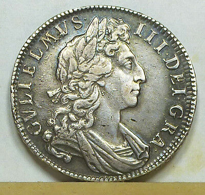 England Half Crown 1701 Extremely Fine