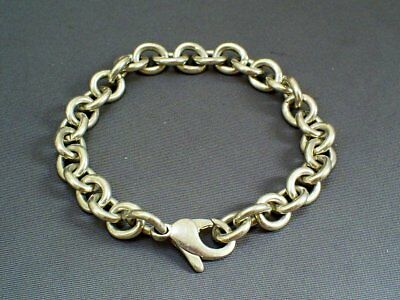1960s VINTAGE TIFFANY/LONDON HM SOLID STERLING SILVER CHAIN LINK BRACELET 24.1g