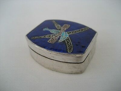 A Sterling Silver And Enamel Eastern Box.