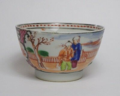Antique Chinese export porcelain tea bowl