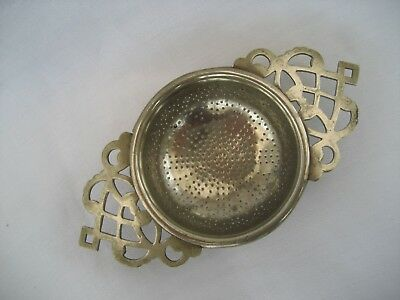 Silver Plated Tea Strainer.