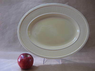 Wedgwood Edme Oval Platter / Serving Plate ~ Pale Yellow / Cream ~ Queen's Ware