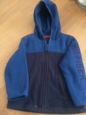 Boys Tommy Hilfiger Hooded Fleece Jacket Age 2-Excellent Condition