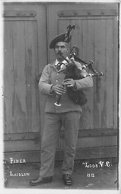 Postcard   Military   Wwi     Piper  Laidlow         Loos   Vc   1915