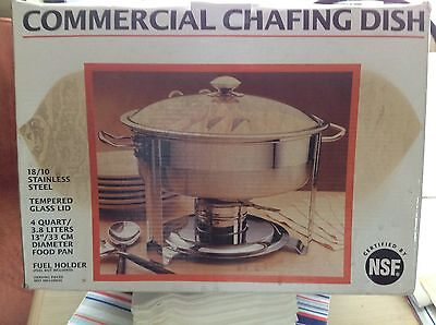 SEVILLE CLASSICS COMMERCIAL CHAFING DISH 4 QUART STAINLESS STEEL,  Model 14014