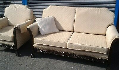 Antique Edwardian Sofa and Chair