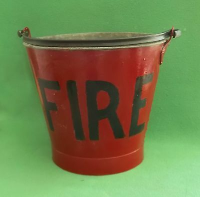 Vintage Industrial Fire Bucket
