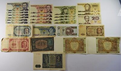 LOT OF 25 - POLAND CURRENCY FROM 20TH CENTURY - VG to UNCIRCULATED