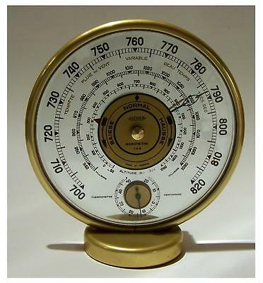 Art Deco Wetterstation JAEGER (LeCoultre) mit Barometer und Thermometer