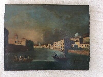 Large Antique Old Master 18th Century Venetian Venice Oil Painting