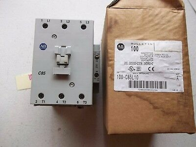 New In Box Allen Bradley Contactor 100-C85L10 Series A (148)