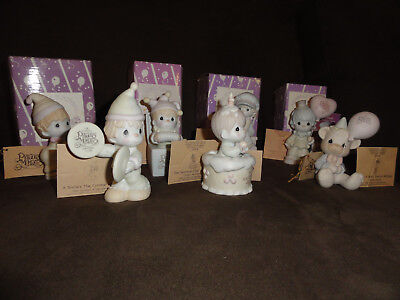 Lot of 7 Precious Moments Symbol of Membership Collector's Club Figurines