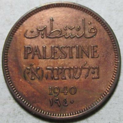 Palestine, Mil, 1940, Extra Fine, Cleaned, Key Date, Bronze, #4