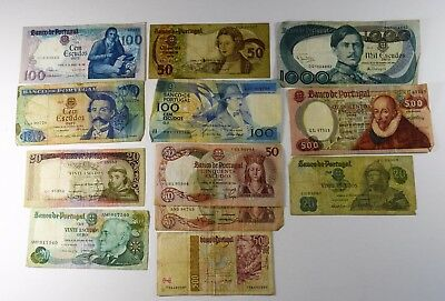 LOT OF 12 - PORTUGAL CURRENCY 20TH CENTURY - VG to XF