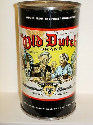"OLD DUTCH ""INTERNATIONAL BREWERIES"" Flat Top Beer Can M809"