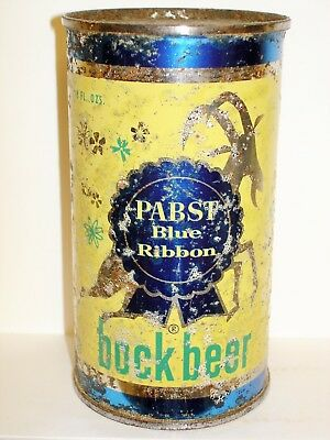 "PABST BLUE RIBBON BOCK BEER ""MILWAUKEE"" Flat Top Beer Can M835"