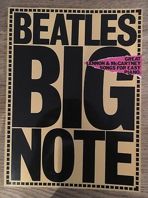 BEATLES BIG NOTE - GREAT LENNEN & McCARTNEY SONGS FOR EASY PIANO -BUCH -