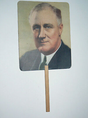 Roosevelt Fan, with R Grocer Coffee Advertising