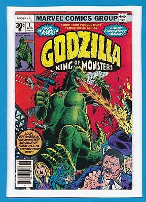 Godzilla_King Of The Monsters #1_August 1977_Very Fine+_First Fantastic Issue!
