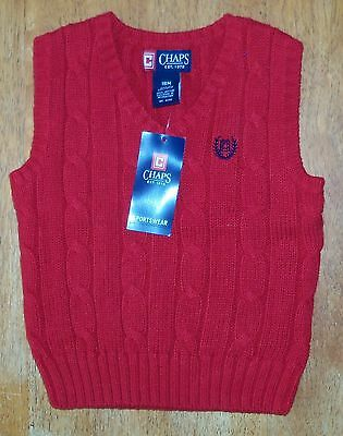 *NWT* Chaps V-Neck Sweater Vest in Red - Size 18M.  Retail - $28  FREE SHIPPING!