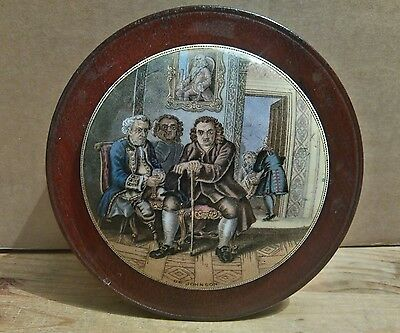 Prattware Pot Lid - Dr Johnson - Framed