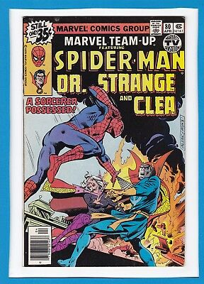 Marvel Team-Up #80_April 1979_F/vf_Spider-Man_Doctor Strange_Clea_Uk!
