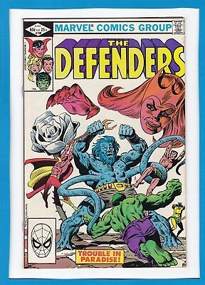 "The Defenders #108_June 1982_Vf Minus_""trouble In Paradise""_Bronze Age Marvel!"