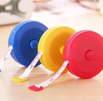 "1.5M 60"" Mini Retractable Tape Measure Sewing Tailor Dieting DIY Tape Ruler"