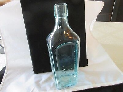 Antique  Scott's Emulsion Cod Liver Oil With Lime Soda Light Blue Bottle