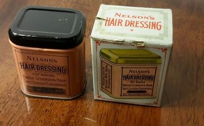 Nelson's Hair Dressing Antique vintage Hair Dressing still in the container!