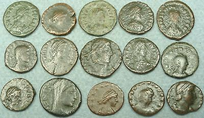 Lot Of 15 Small Roman Bronze Coins