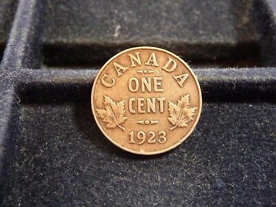 1923 Canada One Cent Coin In Fine/vf Condition  M-151